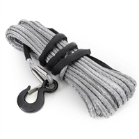 Smittybilt 10,000 Pound XRC Synthetic Winch Rope, 94 Foot Length (Gray)