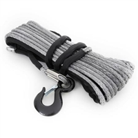 Smittybilt 12,000 Pound XRC Synthetic Winch Rope, 88 Foot Length (Gray)