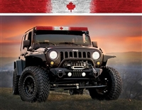 AeroX Industries Canadian Flag Light Bar Cover Insert 52 inch