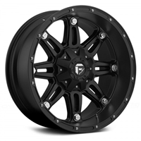 "FUEL- D531 HOSTAGE 1PC Matte Black (20"" x 10"", -12 Offset)"