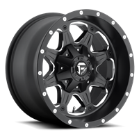 Fuel Off Road Boost Matte Black & Milled  17x9