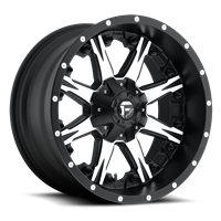 Fuel Off Road Nutz Black & Machined 17x9