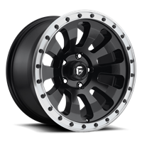 Fuel Off Road TACTIC Black w/ Machined Lip  17x9
