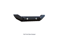 Iron Cross Automotive Full size Base Bumper - No Bar (Matte Black) for 18-20 JL & Gladiator JT