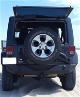 TrailFX Jeep® LED Rear Bumper With Tire Carrier