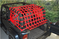 Dirtydog 4X4 Rear Cargo Area  Netting Jeep Wrangler JK 2