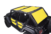 Dirtydog Sun Screen for Jeep Wrangler JK 4 door 3 pc front, back and rear cargo