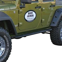 Body Armor RockCrawler Side Guards (Black) For Jeep Wrangler JKU