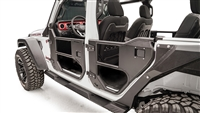 Fab Fours Rear Half Tube Door (Matte Black) for 18+ JL and 20+ Gladiator JT