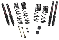Jeep Wrangler JL 4-Door 4WD 1-1.5 in. Dual Rate-Long Travel Lift Kit System with Black MAX Shocks