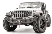 Fab Fours Lifestyle Winch Front Bumper with Guard for 18+ Jeep Wrangler JL and Gladiator JT