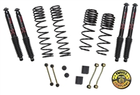 Jeep Wrangler JL 2-Door Rubicon 4WD 2-2.5 in. Dual Rate-Long Travel Lift Kit System with Black MAX Shocks (Rubicon Models)