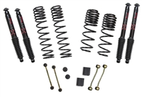 Jeep Wrangler JL 4-Door 4WD 2-2.5 in. Dual Rate-Long Travel Lift Kit System with Black MAX Shocks