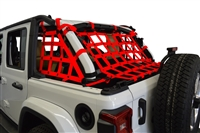 Dirtydog 4X4 Netting 3pc Kit Cargo Sides - for Jeep JLU 4 door