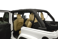 Dirtydog 4X4 Roll Bar Covers - for Jeep Wrangler JLU 4 Door hard top version 18-2019