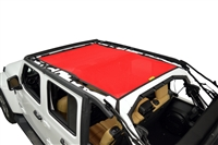 Dirtydog 4X4 Sun Screen Safari Style Front and Rear - for 18+ Jeep Wrangler JLU 4 Door Models