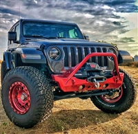 Artec Industries Nighthawk Front Bumper with Mid Tube Stingerfor 18-20 Jeep Wrangler JL & Gladiator JT