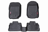 Rough Country Heavy Duty Floor Mats (Front & Rear)  for 18-20 Jeep Wrangler JL 4 Door Models