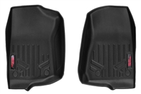 Rough Country Heavy Duty Floor Mats (Front) for 18-19 Jeep Wrangler JL