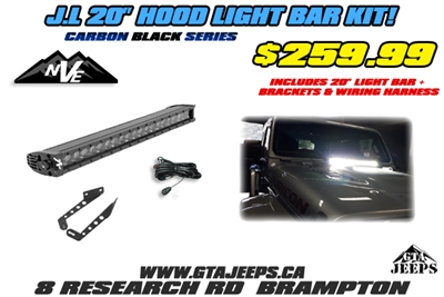 NVE Off Road 20inch Light Bar Kit + Brackets + Wiring Harness for JL & JT