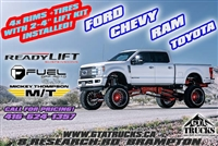 Trucks 4 Rims + Tires + 2.4 Lift Kit Installed - Sell &  Install
