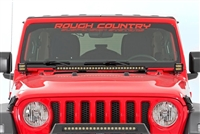 "Rough Country 30"" LED Hood Mount Light Kit For 2018 Jeep Wrangler JL 2 Door & Unlimited 4 Door Models"