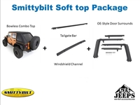 Smittybilt Soft Top Package for Jeep Wrangler JKU 4 Door Models