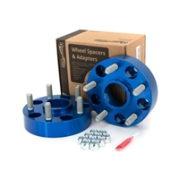"Spidertrax Offroad Wheel Spacers 1.5"" thick 5 on 5 Bolt Pattern (Anodized Blue) for 18+ JL"