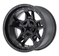 Rockstar 3, 18x9 with 5 on 5 and 5 on 135 Bolt Pattern - Matte Black
