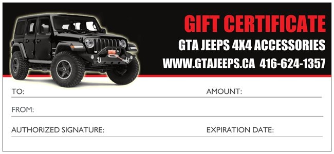 gta jeeps gift certificate give a gift of choice total amount