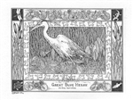 Blue Heron Note Card