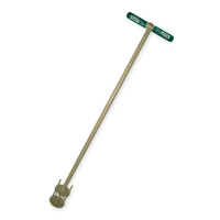 Long handled weed pulling tool