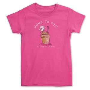 5543732b3 Funny Gardening T-Shirt - Gone to Pot So Leaf Me Alone