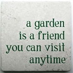 Travertine Tile TT202 - A Garden is a Friend