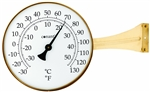Our large face thermometer is made of brass and glass and easy to read.