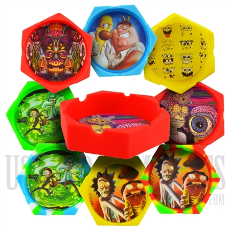 ASH-18 Silicone Ashtray + Famous Characters + Many Designs