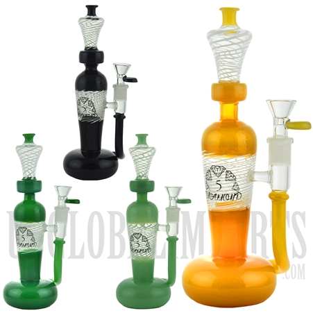 "BD093 10"" Water Pipe + Stemless + Unique Design + Color + 5 DIAMOND"