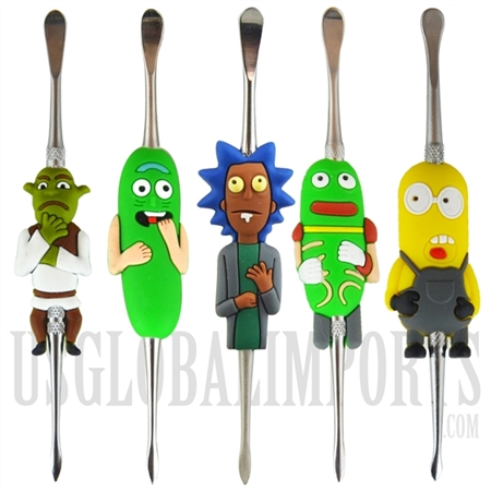 "CA-85 5"" Titanium and Silicone Cartoon Character Dabbers"