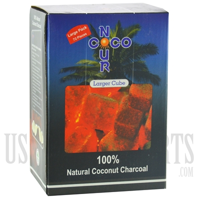 CH-092 Coco Nour Charcoal. Larger Cube. Natural Coconut Charcoal. 1KG