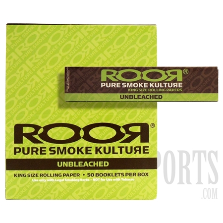 CP-101 King Size Unbleached Rolling Paper by ROOR. 50 Booklet Box