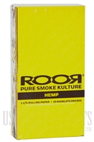 CP-103 1-1/4 Hemp Rolling Paper by ROOR. 25 Booklet Box