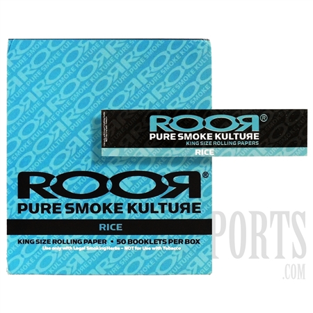 CP-108 King Size rice Rolling Paper by ROOR. 50 Booklet Box