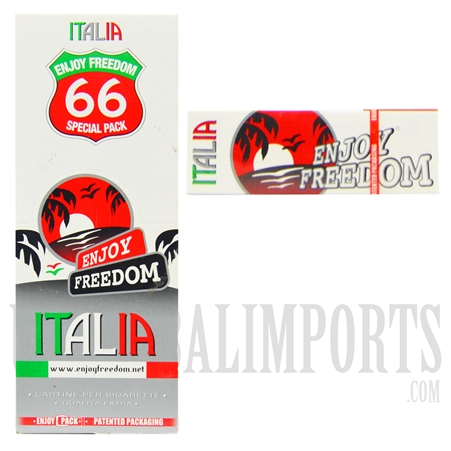 CP-114 Enjoy Freedom Italia Rolling Paper 66 Special Pack. 66 Pack Box + 66 Rolling Paper