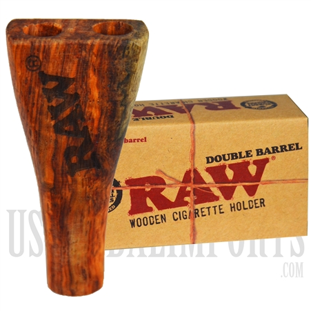 CP-128 RAW Double Barrel Wooden Cigarette Holder