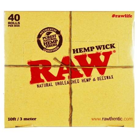CP-238 RAW Hemp Wick. 10FT / 3 Meters. 40 Rolls