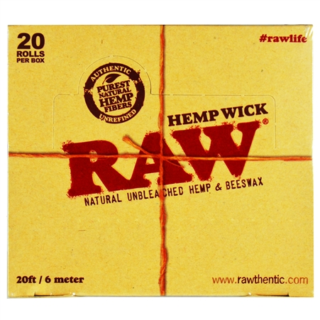CP-239 RAW Hemp Wick. 20FT / 6 Meters. 20 Rolls