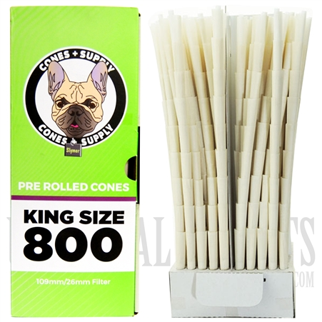 CP-650 Cones + Supply | King Size 800 Pre Rolled Cones | 109mm/26mm Filter