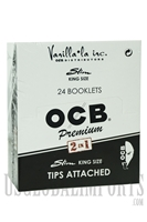 CP102 OCB Slim King Rolling Papers + Filters Attached