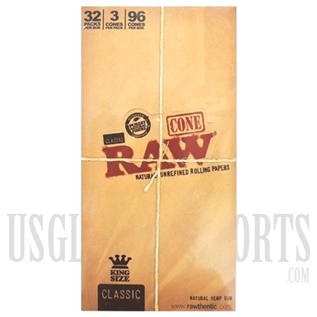 CP11 Classic Raw Cone Rolling Papers King Size