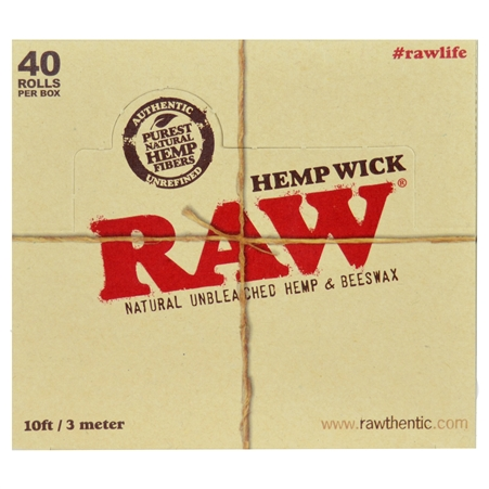 CP136 RAW Hemp Wick. 10 FT / 3 Meter. 40 Wick Bundles Per Box